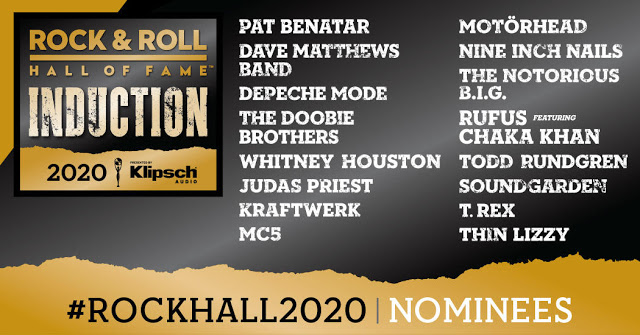 Rock Hall Class of 2020 Nominees
